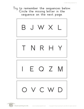 5 Letter Missing Sequence