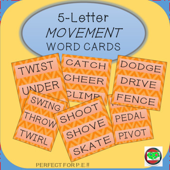 5-Letter Movement Word Cards