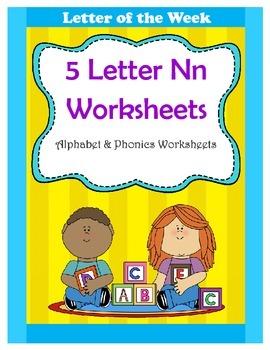 5 Letter N Worksheets / Alphabet & Phonics Worksheets / Letter of the Week