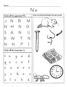 5 Letter N Worksheets Alphabet Phonics Worksheets Letter Of