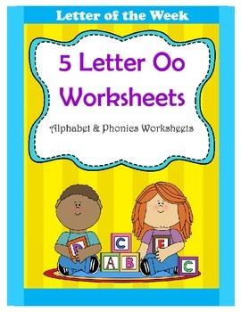 5 Letter O Worksheets / Alphabet & Phonics Worksheets / Letter of the Week
