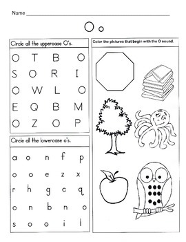 5 Letter O Worksheets / Alphabet & Phonics Worksheets / Letter of ...