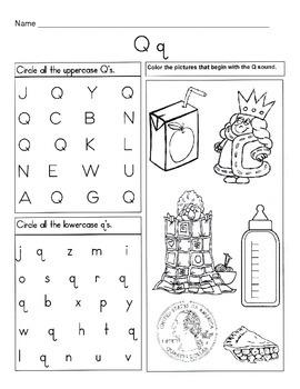 5 Letter Q Worksheets / Alphabet & Phonics Worksheets / Letter of the Week