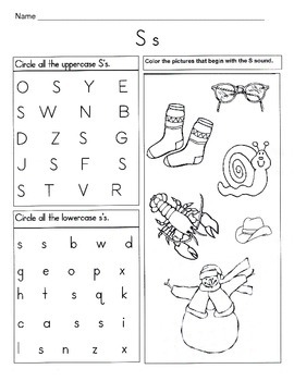 5 Letter S Worksheets / Alphabet & Phonics Worksheets / Letter of ...