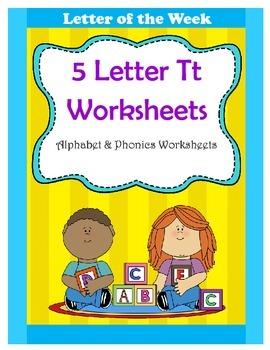 5 Letter T Worksheets / Alphabet & Phonics Worksheets / Letter of the Week