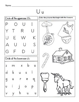 5 letter u worksheets alphabet phonics worksheets letter of the week. Black Bedroom Furniture Sets. Home Design Ideas