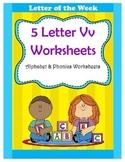 5 Letter V Worksheets / Alphabet & Phonics Worksheets / Letter of the Week