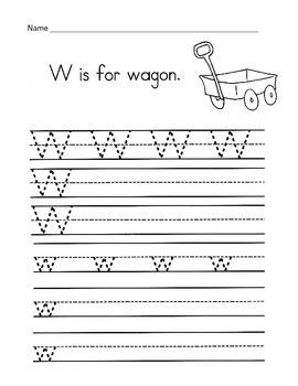 5 Letter W Worksheets / Alphabet & Phonics Worksheets / Letter of the Week