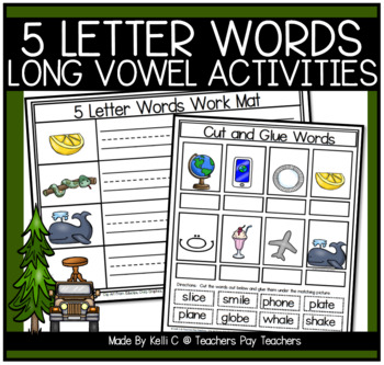 5 Letter Word Flashcards and Work Mats