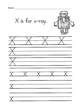 5 Letter X Worksheets / Alphabet & Phonics Worksheets / Letter of the Week