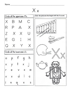 5 Letter X Worksheets / Alphabet & Phonics Worksheets / Letter of ...