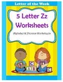 5 Letter Z Worksheets / Alphabet & Phonics Worksheets / Letter of the Week