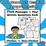 5 Lifeguard Pool Swimming Paired Reading Comprehension: Sp