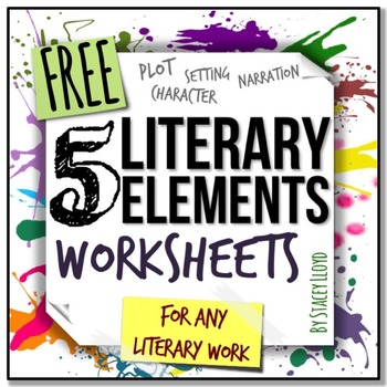 Worksheets Literary Elements Worksheet 5 literary elements worksheets by stacey lloyd teachers pay worksheets