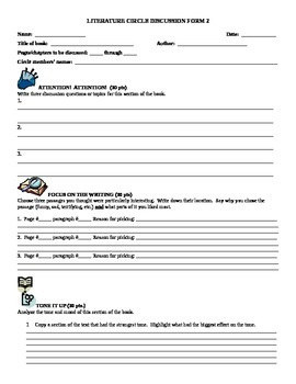 5 Literature Circle Forms