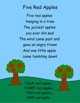 5 Little Apples - A Felt Board Story