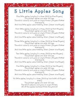 5 Little Apples Activity Bundle