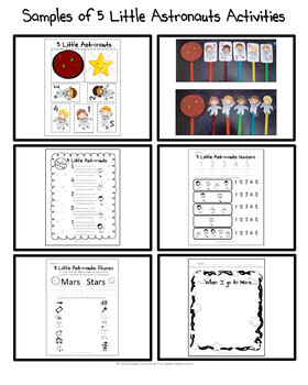 5 Little Astronauts: Counting and Rhyming (Common Core)