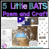 5 Little Bats Poem and Craft