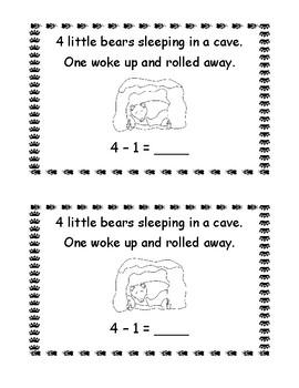 5 Little Bears Sleeping in a Cave