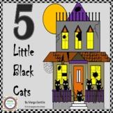 Halloween 5 Black Cats Flip Book Poetry,Fingerplay,Ordinal Numbers