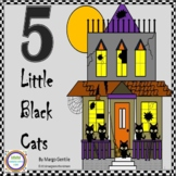 Halloween 5 Black Cats Flip Book Poetry,Fingerplay,Ordinal