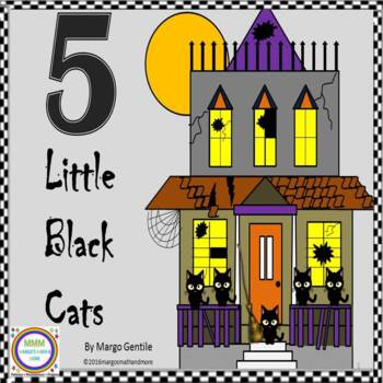 Halloween 5 Black Cats Flip Book Poetry,Fingerplay,and Ord