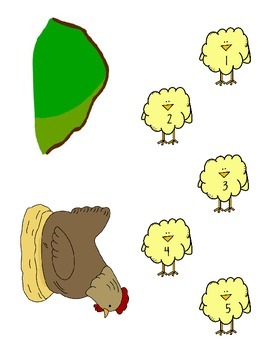 5 Little Chicks Story Board Activity {12 Pages}