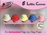 5 Little Cones - Animated Step-by-Step Poem Gr 2 - Regular