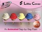 5 Little Cones - Animated Step-by-Step Poem Gr 2 PCS