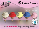 5 Little Cones - Animated Step-by-Step Poem Gr 2 SymbolStix