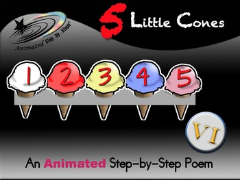5 Little Cones - Animated Step-by-Step Poem - VI