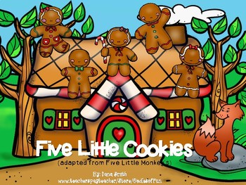 5 Little Cookies  Booklet/Visuals (adapted from 5 Little Monkeys)