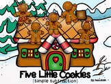 5 Little Cookies Jumping on a house (simple subtraction)
