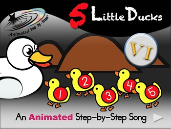 5 Little Ducks - Animated Step-by-Step Song - VI