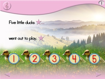 5 Little Ducks - Animated Step-by-Step Song - Regular
