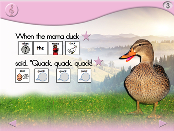 5 Little Ducks - Animated Step-by-Step Song - SymbolStix