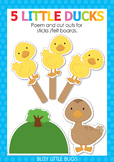 5 Little Ducks Finger Play including PDF Patterns