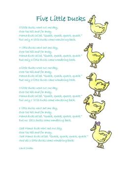 5 Little Ducks - Interactive Circle Time - Autism