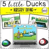 Distance Learning 5 Little Ducks Nursery Rhyme