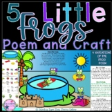 5 Little Frogs Poem and Craft