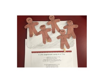5 Little Gingerbread Laying on a Tray