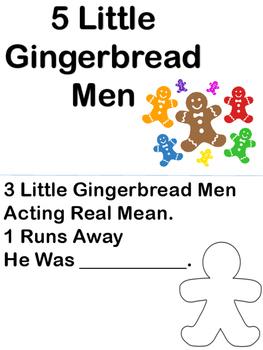 5 Little Gingerbread Men Mini Book