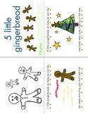 5 Little Gingerbread Rhyming MiniBook