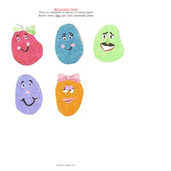 5 Little Jelly Beans Interactive Book, Printable in full color!