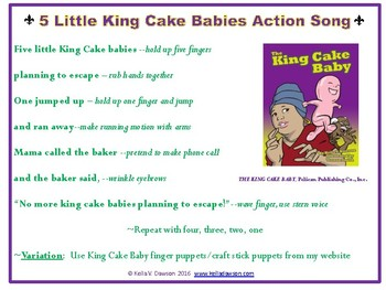 Mardi Gras-King Cake Baby book song