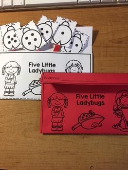 5 Little Lady Bugs Craft Activity