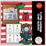 5 Little Lady Bugs Craft Activity