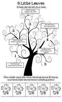 5 Little Leaves Poem