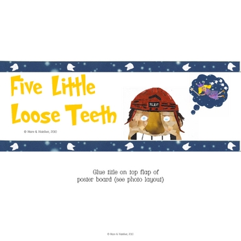 5 Little Loose Teeth Interactive Book, Printable in Full Color!